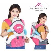 Gendongan Bayi Depan Moms Baby - Hipseat Lullaby Series