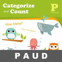 Categorize n Count Buku Aktivitas Mengenal Gambar Angka Mewarnai Anak
