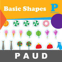 Basic Shapes (Buku Aktivitas Mengenal Gambar Mewarnai Anak PAUD)