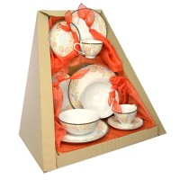 Parcel Dinnerset for 2 Swirl 10 pc Parsel Lebaran-Keramik