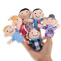6 Boneka Jari Keluarga Media Dongeng Belajar Cerita Anak Model Edukasi