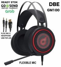 DbE GM100 Gaming Headphone with LED & Flexible Mic w U-Shape