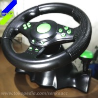 Steering Wheel Racing Game Vibration Motor with Pedal PC PS3 PS2 Setir