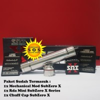 Paketan SZX SubZero X Series Mod & Mini Rda + Chuff Cap Authentic