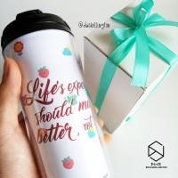 Doodle Tumbler Botol Minum Custom Tulisan Desain Unik Coffee