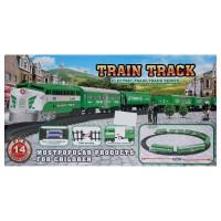 Mainan Anak - Train Track Electric Green Kereta Api Set Hijau Rail