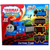 Mainan Anak - Thomas Cartoon Train Track World Kereta Api Set 23 Pcs
