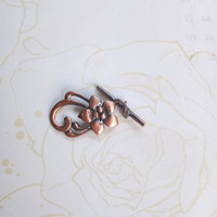 Clasp Kalung Gelang Copper Filigree Shabby Chic