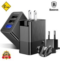 Baseus 3 Port USB Fast Charger Travel Adapter 3in1 Plug Original