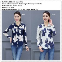 Baju Atasan Kemeja Putih Blouse Wanita Korea Import AB821483 Tunik
