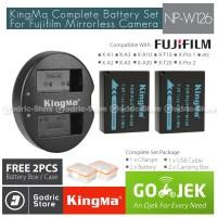 KingMa Paket Complete Battery Charger Set NP-W126 Fujifilm X Series