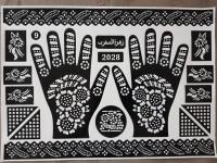 Stiker Henna / Cetakan Henna Tangan Dewasa