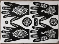 Stiker Henna / Cetakan Henna