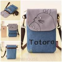 Totoro Denim Sling Bag / Tas Travel Selempang Mini Jean Jeans