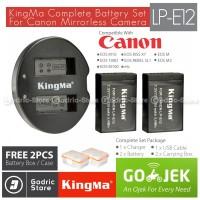 KingMa Paket Complete Battery Charger Set LP-E12 Canon M10 100D Etc