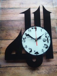 Jam Dinding Akrilik Lafaz Allah 40x30
