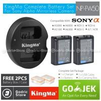KingMa Paket Complete Battery Charger Set NP-FW50 Sony Alpha & NEX Etc