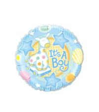 It's a Boy Blue Giraffe Round Balloon / Balon Foil Baby Shower
