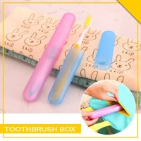 Tempat Penyimpanan Sikat Gigi Tutup Warna Warni Travel Toothbrush Box