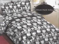 SPREI KATUN 120 C014 HELLO KITTY BLACK WHITE HITAM PUTIH