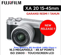 Fuji Film X-A20 Kit Lensa Fuji 15-45mm Fuji Mirroless Resmi