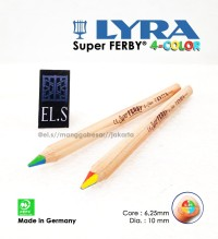Lyra Super FERBY 4 Colours Pencil ( Pensil Warna Unik )