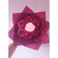 Flower bouquet Buket bunga satin