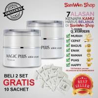 Magic Plus White Cream Premium Beli 2 Pcs 35gram Gratis 10 Sachet