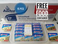 ANCHOR mini UB unsalted butter 10g MPASI anak bayi HALAL FREE kotak