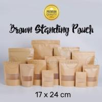 Kraft Paper Bag 17x24 FLAT | plastik ziplock | standing pouch