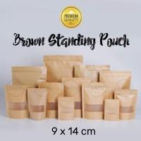 Kraft Paper Bag 9x14 FLAT | plastik ziplock | standing pouch