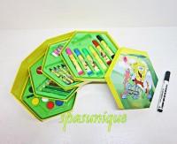 Crayon Set 46 Pieces Karakter Sponge Bob