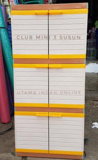 Lemari pakaian / lemari plastik / MINI CLUB 3 susun