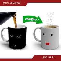 Magic Mug Cangkir Gelas Sensitif Suhu Motif Smile Face Unik Lucu