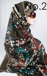 Pashmina Motif Batik Floral Bahan Good Viscose by Azzura Scarf