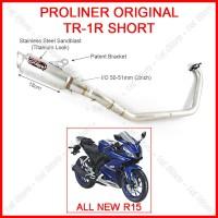 Knalpot Proliner TR1 Short All New R15 VVA V3 155cc Racing Original