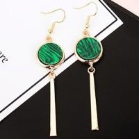 anting panjang fashion korea dangling earrings hijau emerald jan132