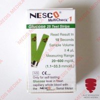Nesco Glucose Test Strip Cek Gula Darah Refill Isi 25 Stick