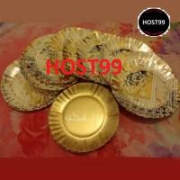 PIRING KERTAS KUE TART ULANG TAHUN PAPER PLATE EMAS GOLD