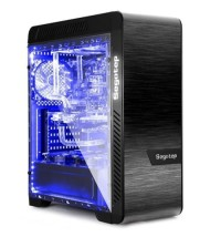 SEGOTEP EOS Black Aluminium Double Side Tempered Glass Gaming Case