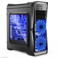 SEGOTEP GANK-II Black Full Acrylic Side Window ATX Gaming Case