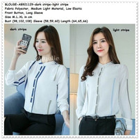 Baju Atasan Kemeja Putih Blouse Wanita Korea Import Tunik AB921129