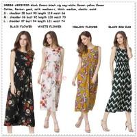 Long Dress Midi Pantai Pesta Korea Import AB232920 Hitam Putih Yellow