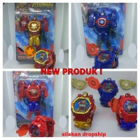 new !! jam tangan anak robot superhero