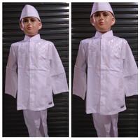 Baju koko anak warna putih || manasik haji anak