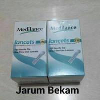 Medilance blood lancet /jarum bekam medilance isi 100