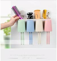 RA777 Set Dispenser odol tempat sikat gigi dilengkapi 4 gelas kumur