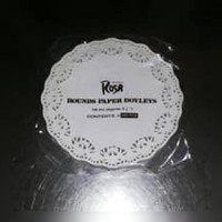 Alas kue kertas renda, Doyleys, toples kue ROSA, uk. 3,5""