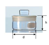 Weighing Bottle. Botol Timbang. Volume 30mL. Flat shape. Borosilicate