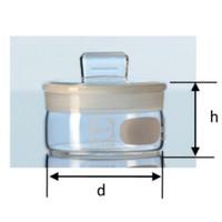 Weighing Bottle. Botol Timbang. Volume 80mL. Flat shape. Borosilicate
